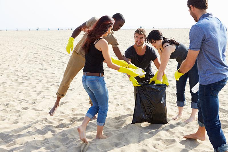Limpiar las playas