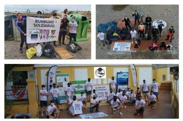 Aquarium colabora en la limpieza de fondos marinos organizada por Buceo Crised